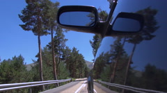 Side car driving on rural road 60 Stock Footage