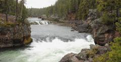 Yellowstone river water stream Stock Footage