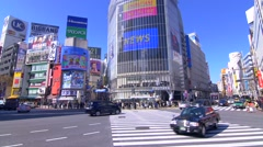 Tokyo Cityscape - Shibuya Crossing - stock footage