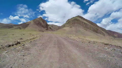 Timelapse Car driving on winding mountain road,Qinghai,China. Stock Footage