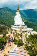 Big Buddha statue Wat Phra That Pha Son Kaew - stock photo