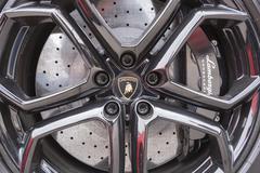 Wheel of Lamborghini, closeup view Kuvituskuvat