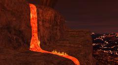 3D rendered hell enviroment Stock Illustration
