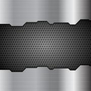 Metal perforated texture tech background - stock illustration