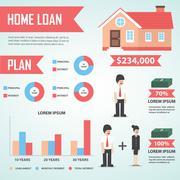 Home loan infographic design element, Real estate Stock Illustration