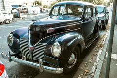 Old luxury Dodge - stock photo