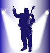 Old Rocker On Stage Stock Illustration
