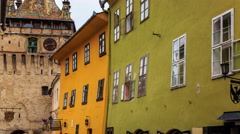 Transylvania Sighisoara Clock Tower Timelapse - stock footage