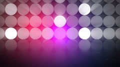 Light spots flickering stage reflections - 1080p Stock Footage
