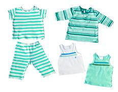 baby boy's clothes isolated - stock photo