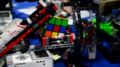 Rubik's Cube Robot  compile - stock footage