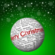 Christmas card with Merry Christmas Piirros