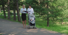 Combining Work and Motherhood Stock Footage