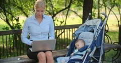 Multi-tasking Mom Stock Footage