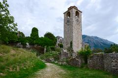 The ruins of the clock tower, Old Bar, Montenegro Stock Photos
