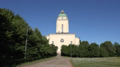 Suomenlinna Church (in 4k) on Suomenlinna, Helsinki, Finland. Stock Footage