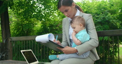 Working Mother Stock Footage