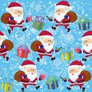 Stock Illustration of Santa Claus, Seamless