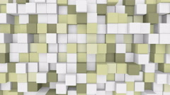 Pale yellow 3D cubes loopable geometric background 4k UHD (3840x2160) Stock Footage