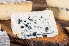 French roquefort cheese - stock photo