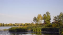 View of the Dnieper River Stock Footage