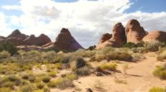 Desert utah rocks time lapse drought clouds 2 Stock Footage