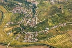 Stock Photo of Rural village - aerial view
