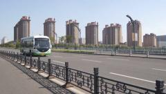 City of Datong (Shanxi, China) 26 Cityscape with traffic Stock Footage