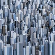 Tall city background - stock illustration