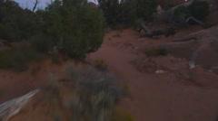 Lost in desert night Stock Footage