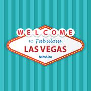 Welcome to Fabulous Las Vegas Nevada Sign On Curtains Background - stock illustration