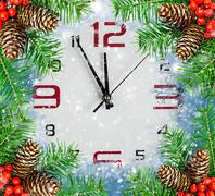 Countdown to New Year, holidays backgrounds Stock Photos