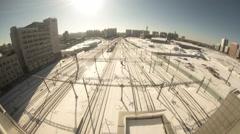 Seoul Korea Snowy Station Stock Footage
