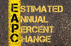 Business Acronym EAPC as ESTIMATED ANNUAL PERCENT CHANGE - stock illustration