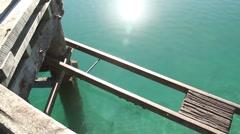 Glenorchy pier New Zealand Stock Footage