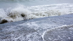 Storm at sea Stock Footage