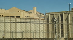 Prison complex western outdoor Stock Footage