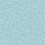 Green Baby Tile Pattern Repeat Background Stock Illustration