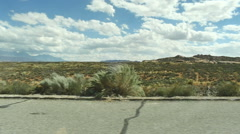 Remote desert road Stock Footage