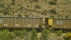 Shipping container tracks train Stock Footage