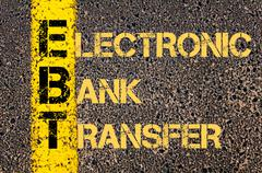 Stock Illustration of Business Acronym EBT as ELECTRONIC BANK TRANSFER