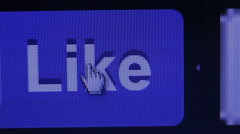 The cursor selects the like Stock Footage