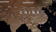 China On World Map 2 Stock Footage