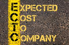 Business Acronym ECTC as EXPECTED COST TO COMPANY - stock illustration