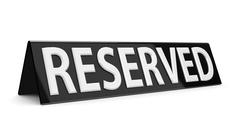 Reserved black sign Stock Photos