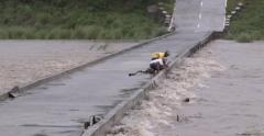 Dangerous Flooding River People Gather Driftwood Stock Footage