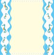Paper design with seahorse Stock Illustration