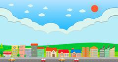 City scene at daytime Stock Illustration