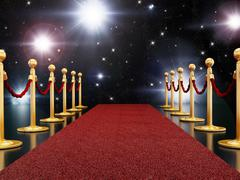 Red carpet night - stock illustration