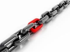Red chain part Stock Illustration